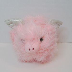 Super Fluffy Soft 🐖 Hairy Plush Pink Flying Pig
